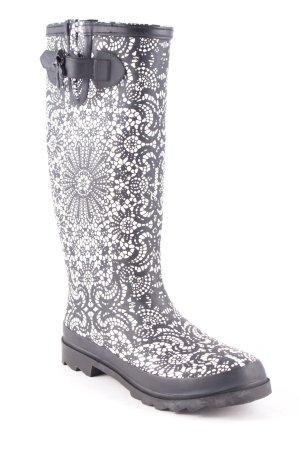 Fornarina Stiefel schwarz-weiß extravaganter Stil