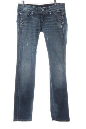 Fornarina Straight-Leg Jeans blau Destroy-Optik