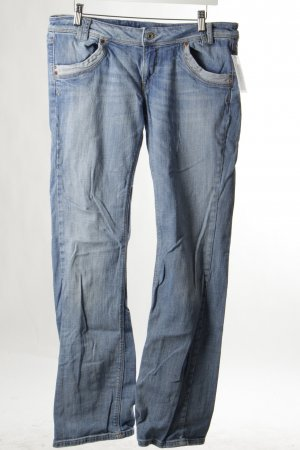 Fornarina Straight-Leg Jeans blau Used-Optik