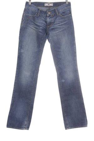 Fornarina Straight-Leg Jeans stahlblau-blassblau Casual-Look