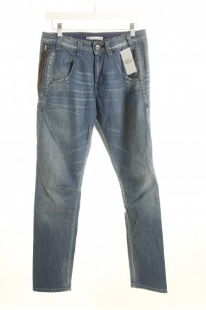 Fornarina Jeans coupe-droite bleu acier style décontracté