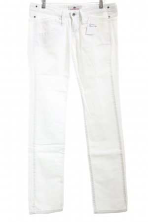 Fornarina Straight-Leg Jeans weiß Casual-Look
