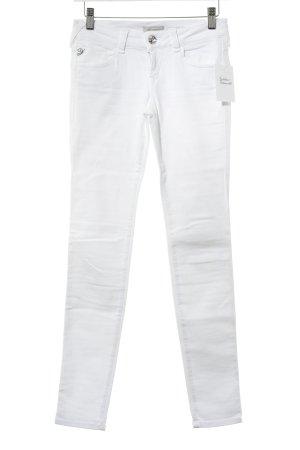 Fornarina Straight-Leg Jeans weiß-silberfarben schlichter Stil