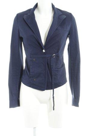 Fornarina Blazer de tela de sudadera azul oscuro estilo «business»