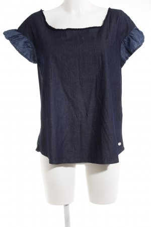 Fornarina T-Shirt dunkelblau-blau Business-Look