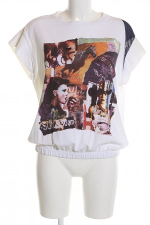 Fornarina T-Shirt Motivdruck Casual-Look