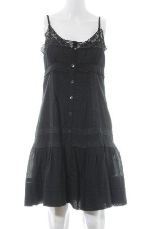 Fornarina Trägerkleid schwarz florales Muster Elegant