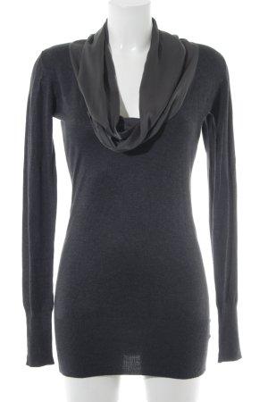 Fornarina V-Ausschnitt-Pullover anthrazit Webmuster