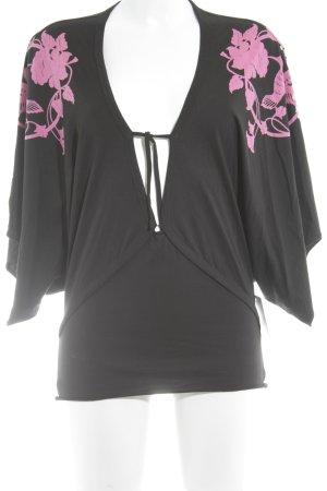 Fornarina V-Ausschnitt-Shirt abstraktes Muster Casual-Look