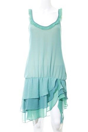 Fornarina Vestido estilo flounce turquesa estilo extravagante
