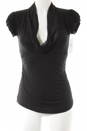 Fornarina Cowl-Neck Shirt black classic style