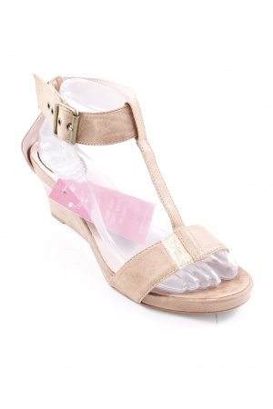 Fornarina Wedge Sandals light brown-nude casual look