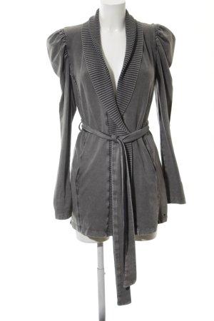 Fornarina Wraparound Jacket light grey extravagant style