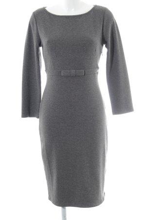 Fornarina Wollen jurk grijs-donkergrijs gestippeld Britse uitstraling