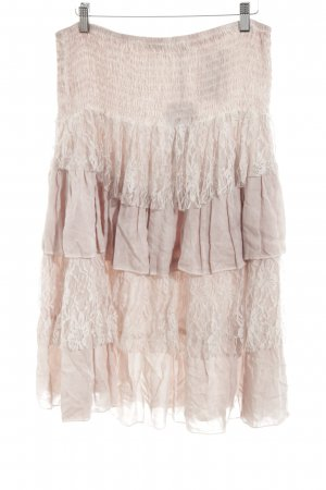 Fortuna Flounce Skirt dusky pink layered look