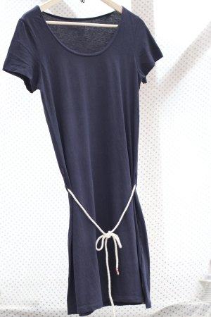 FORVERT - Gr. S - dunkelblaues T-Shirt-Kleid mit Gürtel
