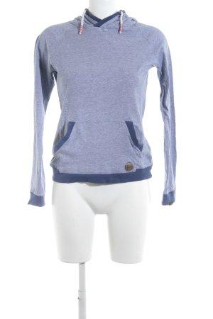 Forvert Kapuzenpullover stahlblau-weiß Streifenmuster Casual-Look