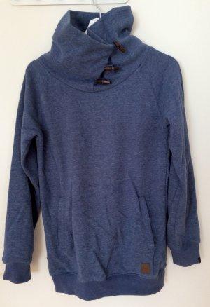 Forvert Turtleneck Sweater steel blue cotton