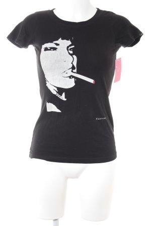 Forvert T-Shirt Motivdruck Boyfriend-Look