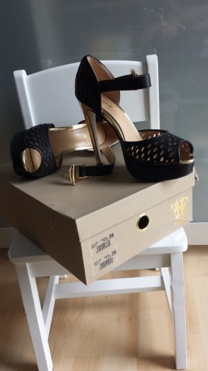 Fosco Plateau-Pumps/Schwarz/Gold