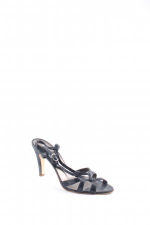 Fosco Strapped High-Heeled Sandals black wet-look