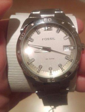 fossil am4086 damenuhr silber neu armbanduhr edelstahl