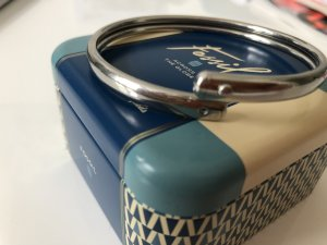 Fossil Bangle zilver