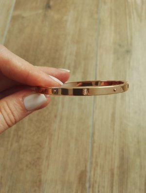 FOSSIL Armband / Edelstahl / Armreif / Armclip / roségold