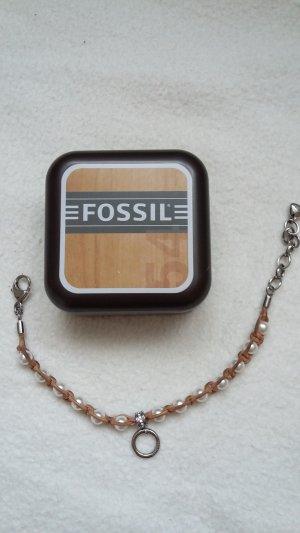 Fossil Armband für Charms * Leder mit Perlen *