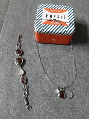 Fossil Bracelet light grey-brown stainless steel