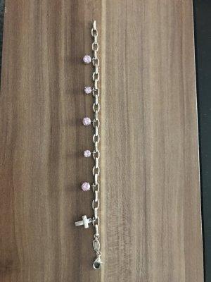 Fossil Armband mit rosa Steinen