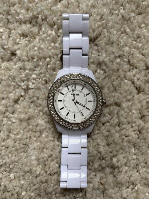 Fossil Analog Watch white-silver-colored
