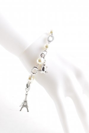 Fossil Bracelet white-silver-colored Paris-Look