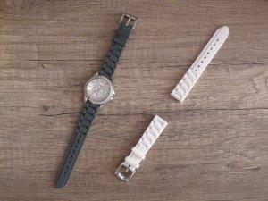 Fossil Armbanduhr - Edelstahl mit Gummiarmband