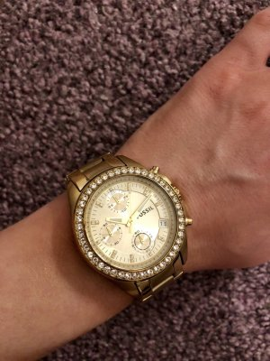 Fossil Armbanduhr in Gold