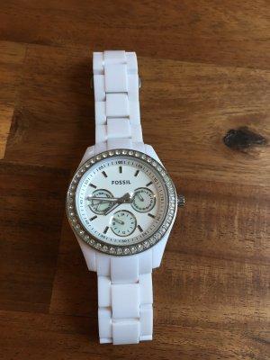 Fossil Armbanduhr in weiß