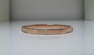Fossil Bangle silver-colored-rose-gold-coloured stainless steel