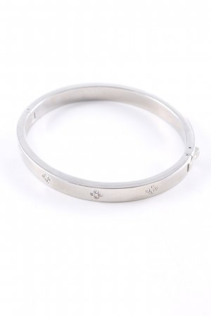 Fossil Bangle silver-colored flower pattern elegant
