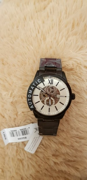 Fossil Watch With Metal Strap black