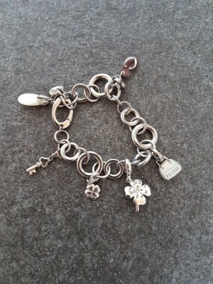 Fossil Charm Bracelet silver-colored-brown