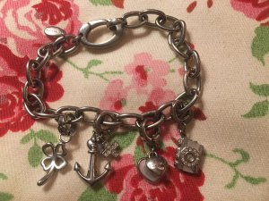Fossil Bettelarmband Silber mit Charms