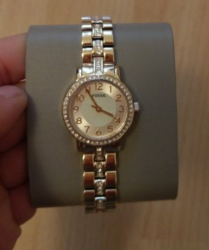 Fossil bq1428 Damenuhr Armbanduhr gold edelstahl neu