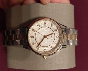 Fossil bq1574 Damenuhr Armbanduhr edelstahl bicolor silber gold