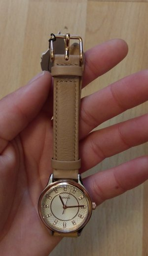 fossil bq1576 neu damenuhr armbanduhr leder rosė
