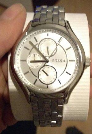fossil bq1580 damenuhr neu armbanduhr silber edelstahl