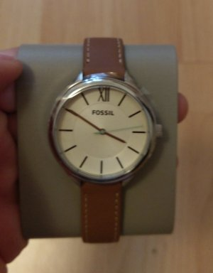 Fossil bq3083 Neu Damenuhr Armbanduhr Leder