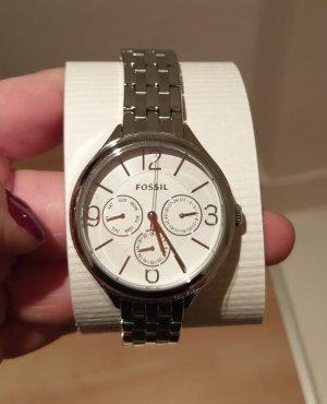Fossil bq3126 Damenuhr neu silber Armbanduhr
