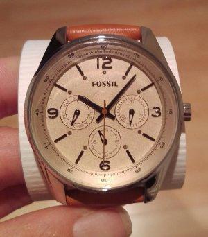 fossil bq3142 damenuhr leder armbanduhr neu
