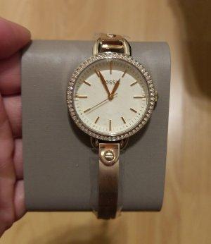 fossil bq3164 damenuhr armbanduhr gold kristall