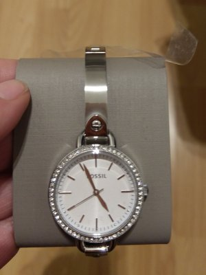 fossil bq3164 damenuhr silber kristall armbanduhr